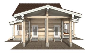 Фото #10: Красивый деревянный дом РС-128 из бревна
