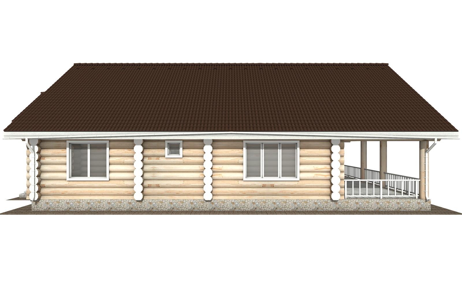 Фото #8: Красивый деревянный дом РС-129 из бревна