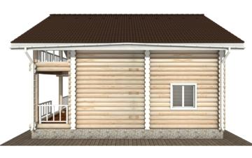 Фото #10: Красивый деревянный дом РС-132 из бревна