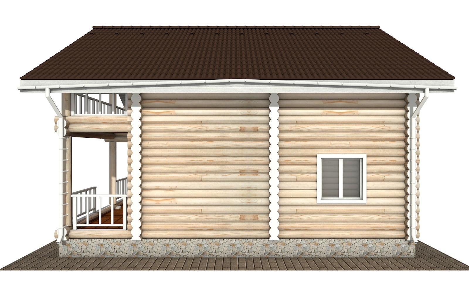 Фото #9: Красивый деревянный дом РС-132 из бревна
