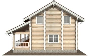 Фото #10: Красивый деревянный дом РС-133 из бревна