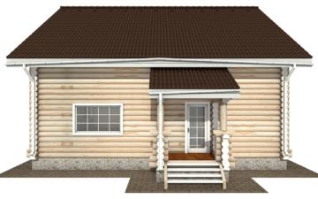 Фото #10: Красивый деревянный дом РС-135 из бревна