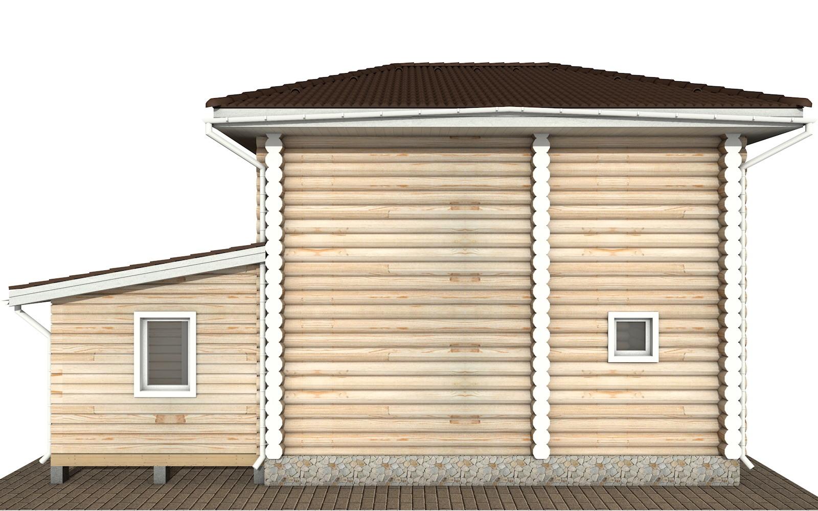 Фото #9: Красивый деревянный дом РС-136 из бревна