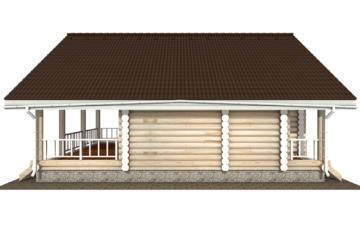 Фото #10: Красивый деревянный дом РС-137 из бревна