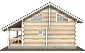 Фото #10: Красивый деревянный дом РС-138 из бревна