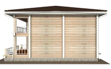 Фото #10: Красивый деревянный дом РС-139 из бревна