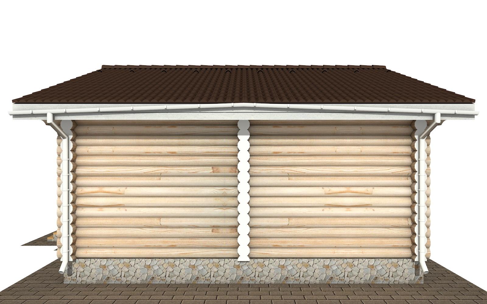 Фото #8: Красивый деревянный дом РС-140 из бревна