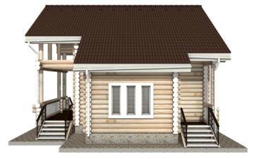 Фото #10: Красивый деревянный дом РС-15 из бревна