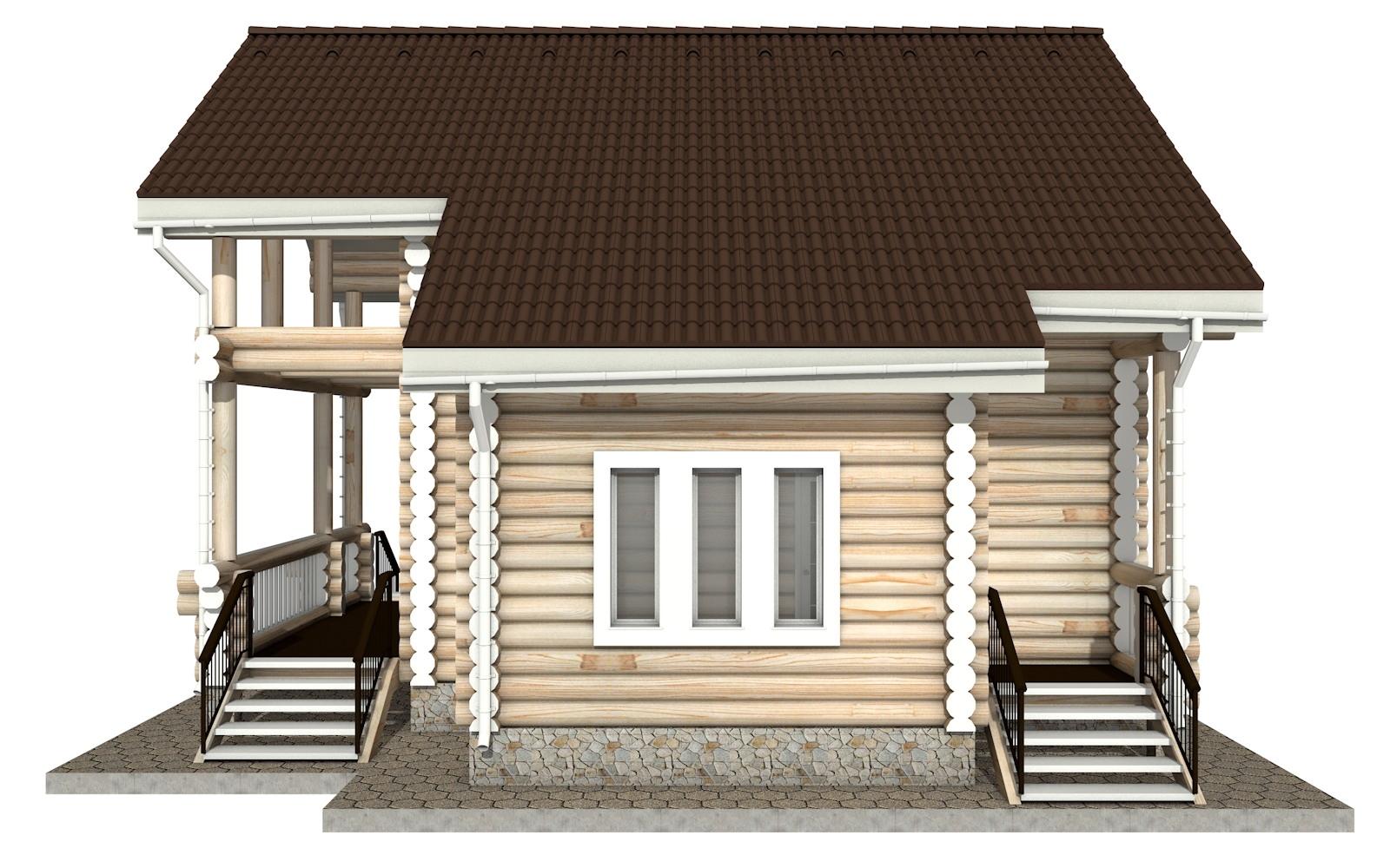 Фото #9: Красивый деревянный дом РС-15 из бревна