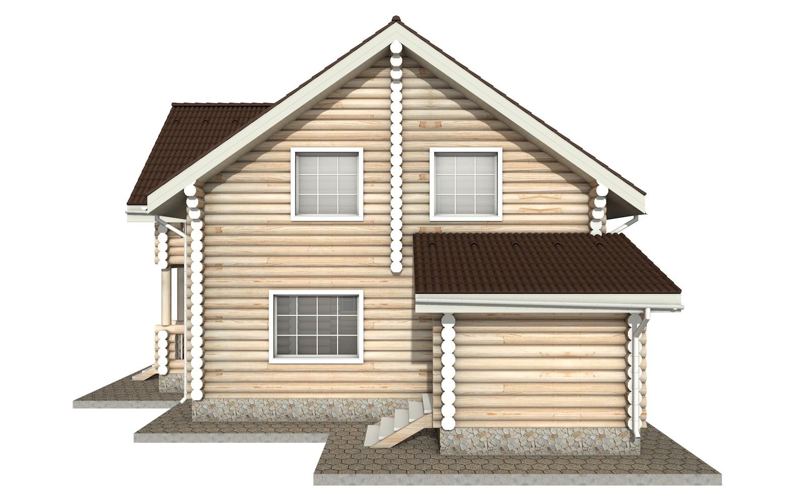 Фото #9: Красивый деревянный дом РС-16 из бревна