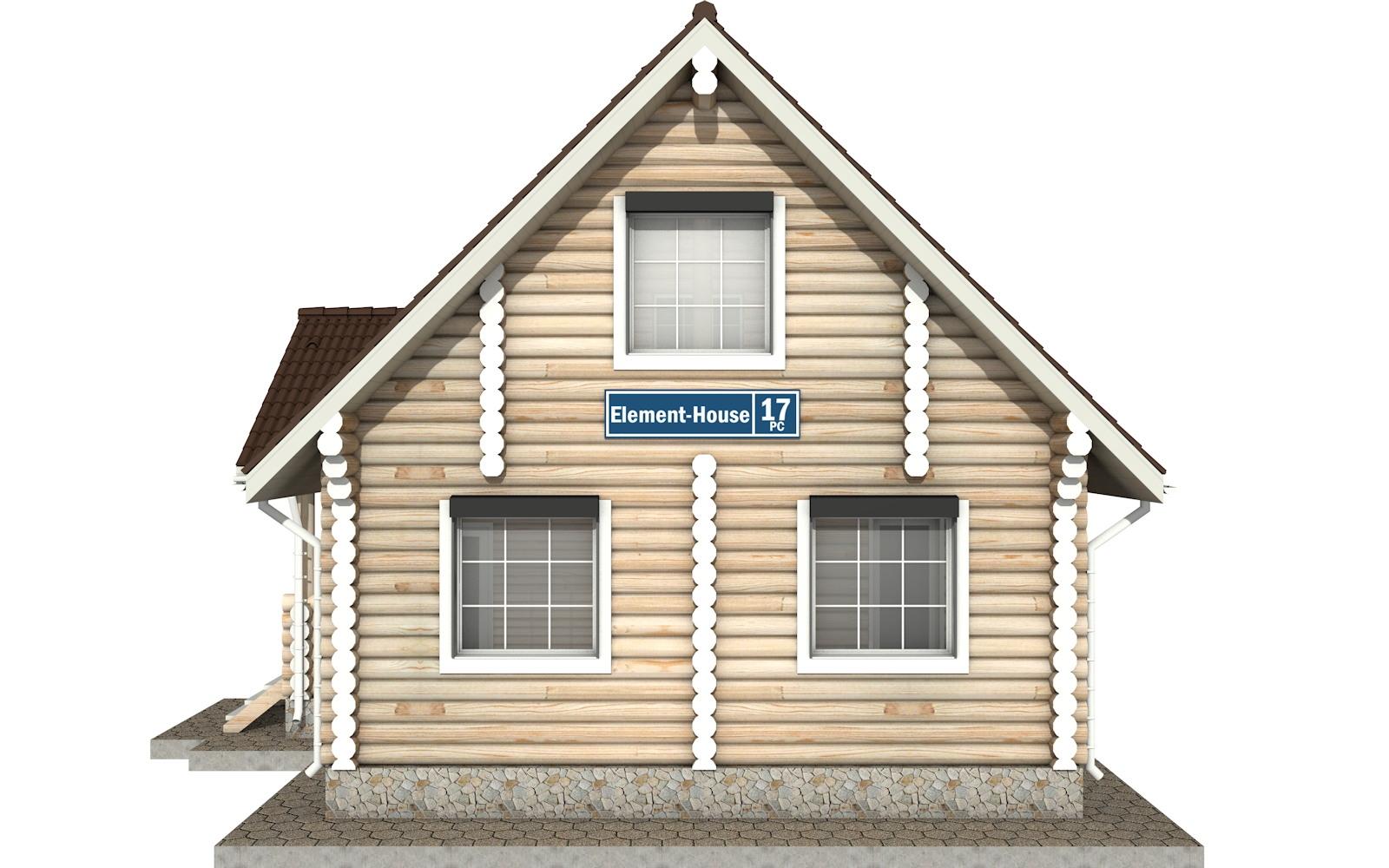 Фото #9: Красивый деревянный дом РС-17 из бревна