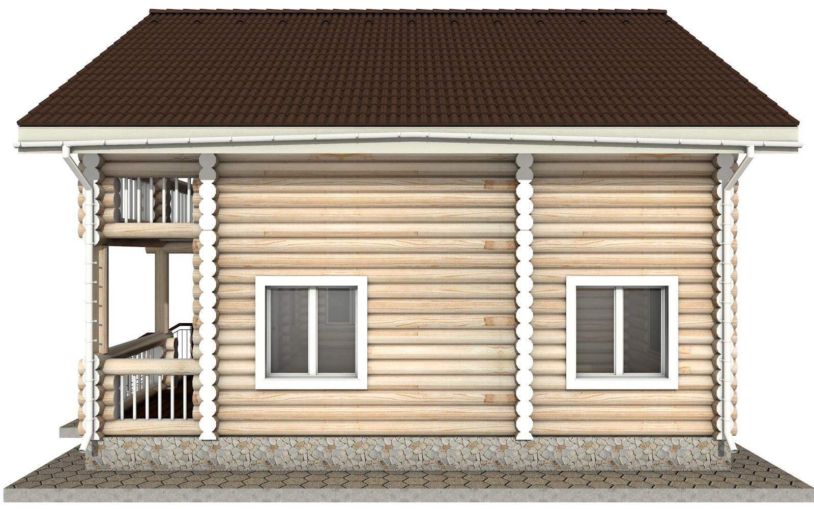 Фото #9: Красивый деревянный дом РС-18 из бревна