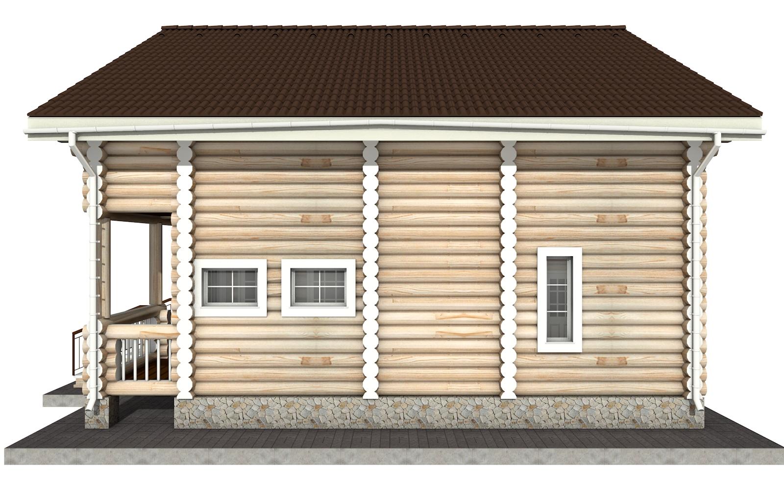 Фото #9: Красивый деревянный дом РС-3 из бревна