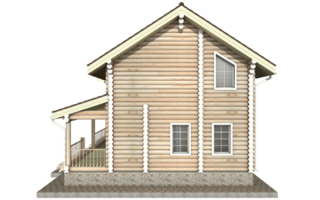 Фото #10: Красивый деревянный дом РС-22 из бревна
