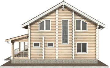 Фото #10: Красивый деревянный дом РС-23 из бревна