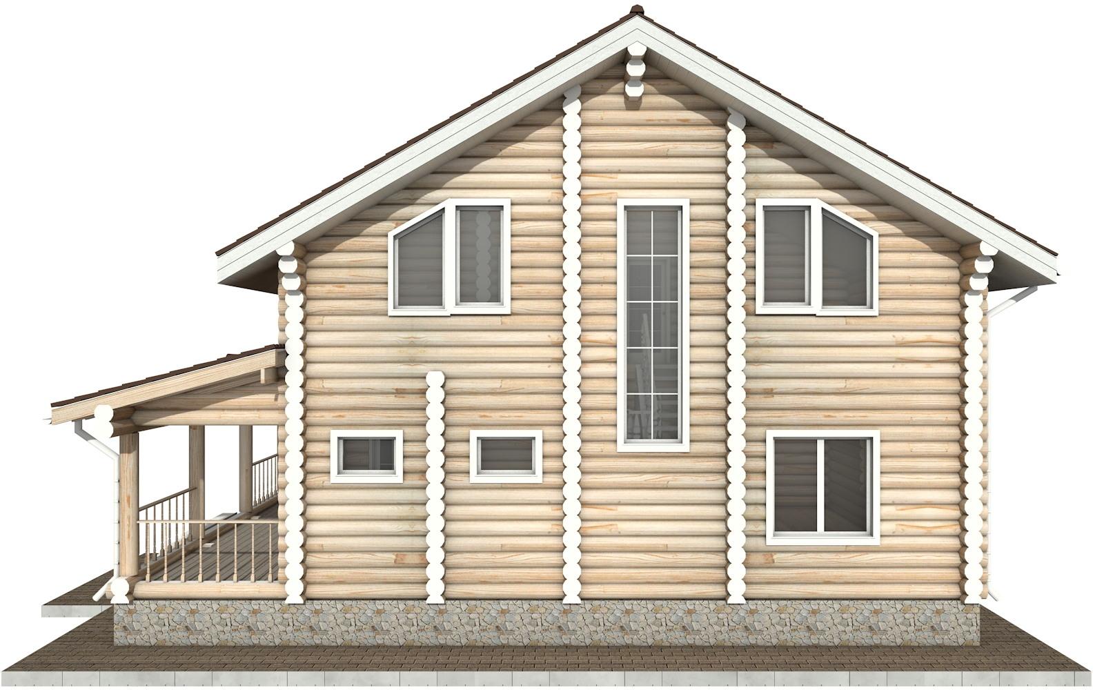 Фото #9: Красивый деревянный дом РС-23 из бревна