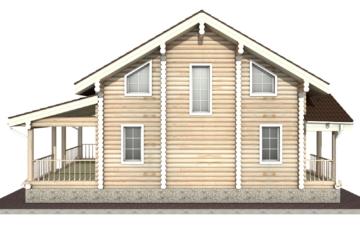 Фото #10: Красивый деревянный дом РС-24 из бревна