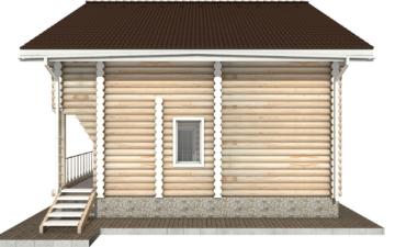 Фото #10: Красивый деревянный дом РС-25 из бревна