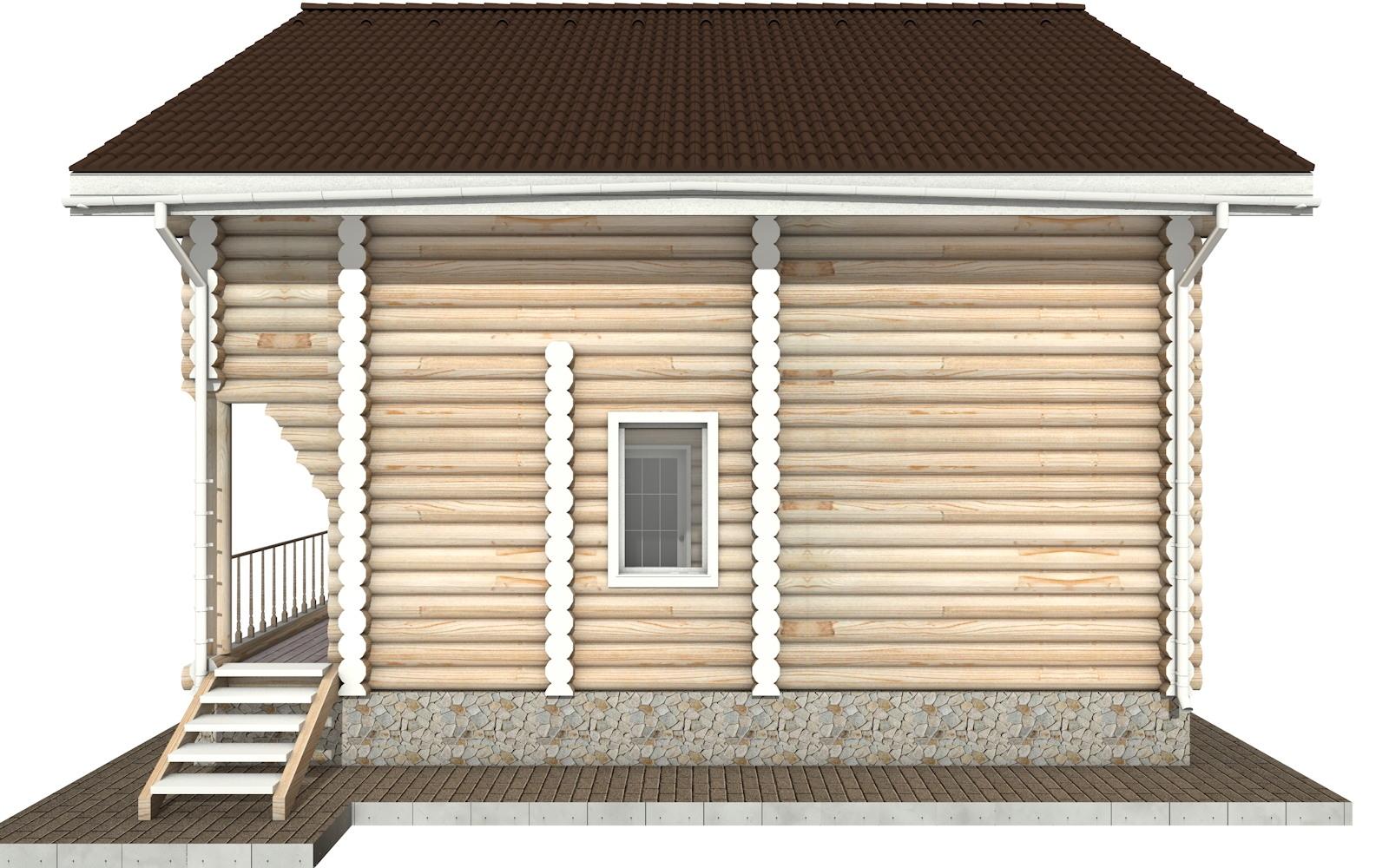 Фото #9: Красивый деревянный дом РС-25 из бревна