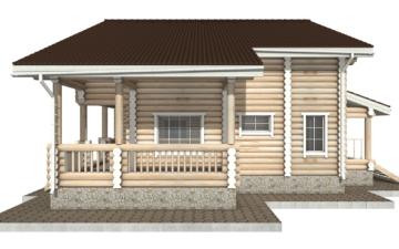 Фото #10: Красивый деревянный дом РС-26 из бревна