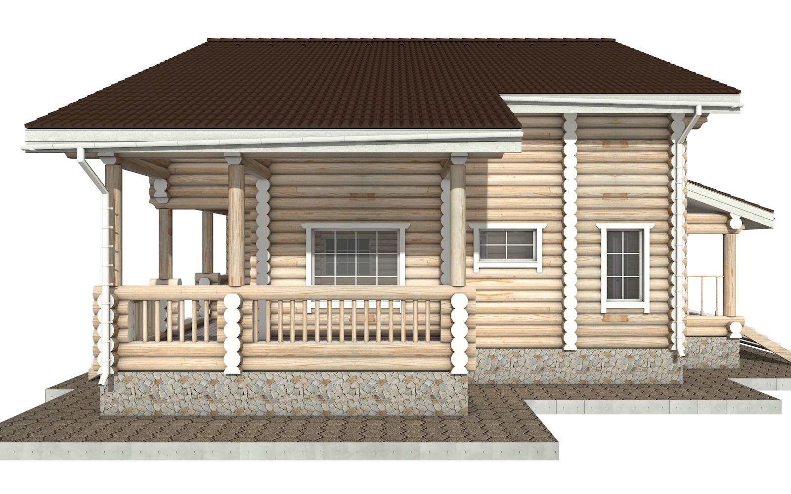 Фото #9: Красивый деревянный дом РС-26 из бревна