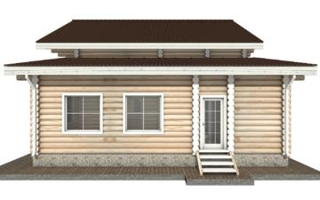 Фото #10: Красивый деревянный дом РС-28 из бревна