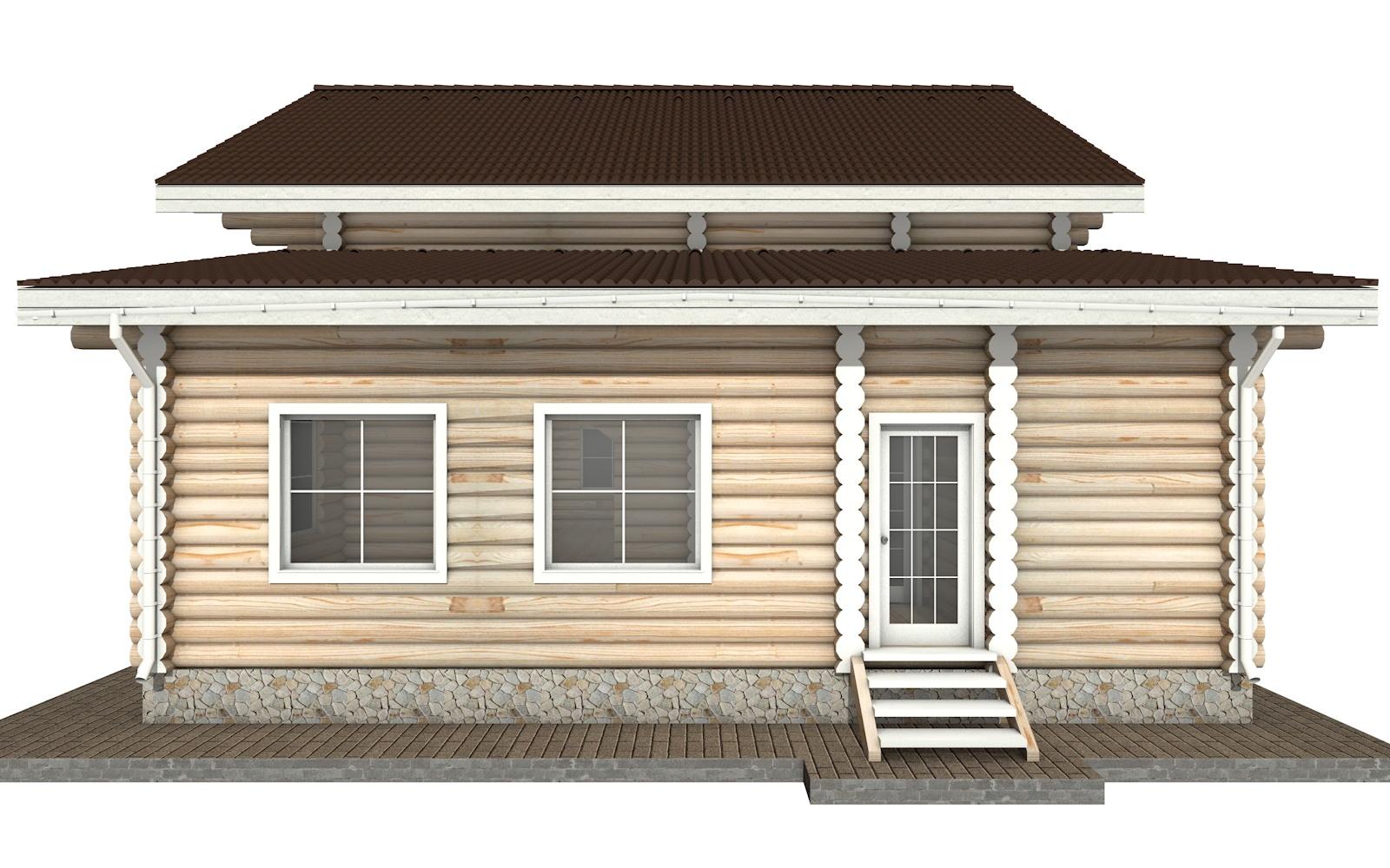 Фото #9: Красивый деревянный дом РС-28 из бревна