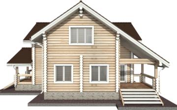 Фото #10: Красивый деревянный дом РС-29 из бревна