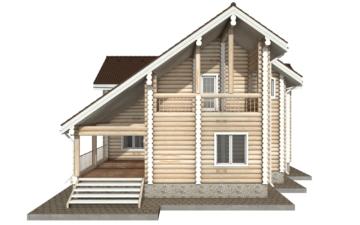 Фото #10: Красивый деревянный дом РС-30 из бревна