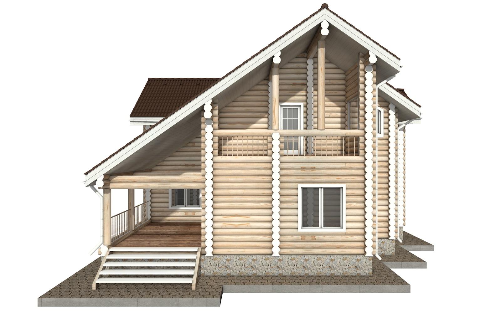 Фото #9: Красивый деревянный дом РС-30 из бревна