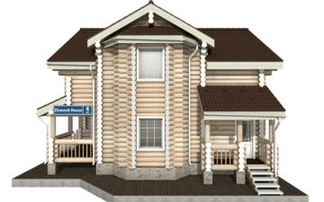 Фото #10: Красивый деревянный дом РС-4 из бревна