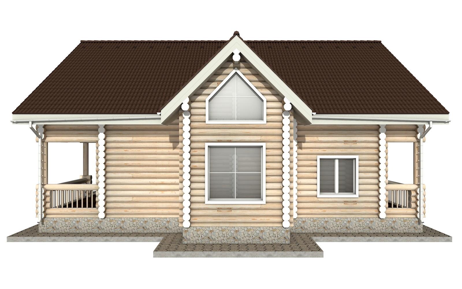 Фото #9: Красивый деревянный дом РС-20 из бревна