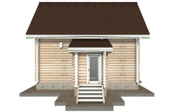 Фото #10: Красивый деревянный дом РС-33 из бревна
