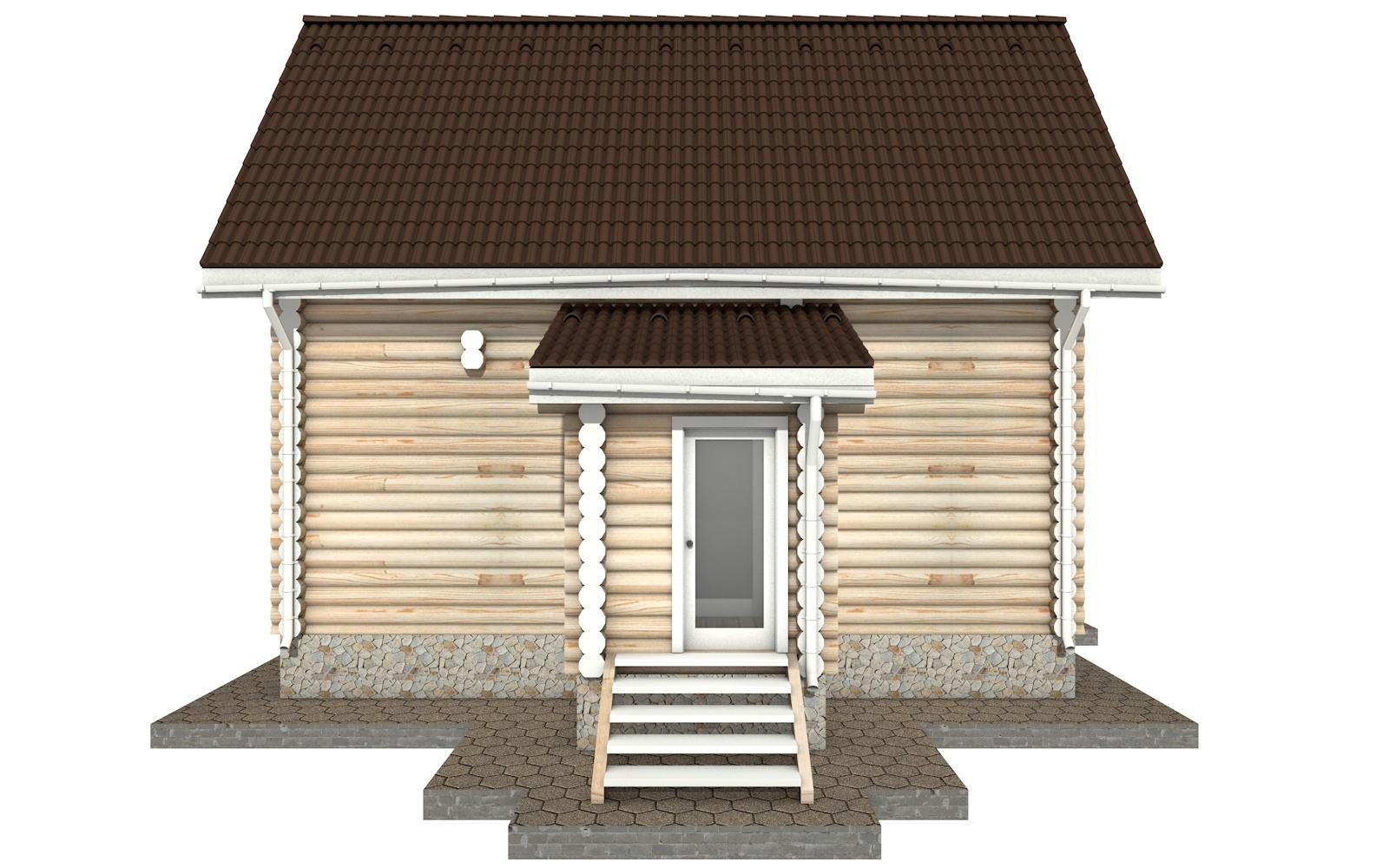 Фото #9: Красивый деревянный дом РС-33 из бревна