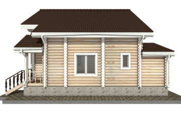 Фото #10: Красивый деревянный дом РС-34 из бревна