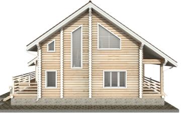 Фото #10: Красивый деревянный дом РС-35 из бревна
