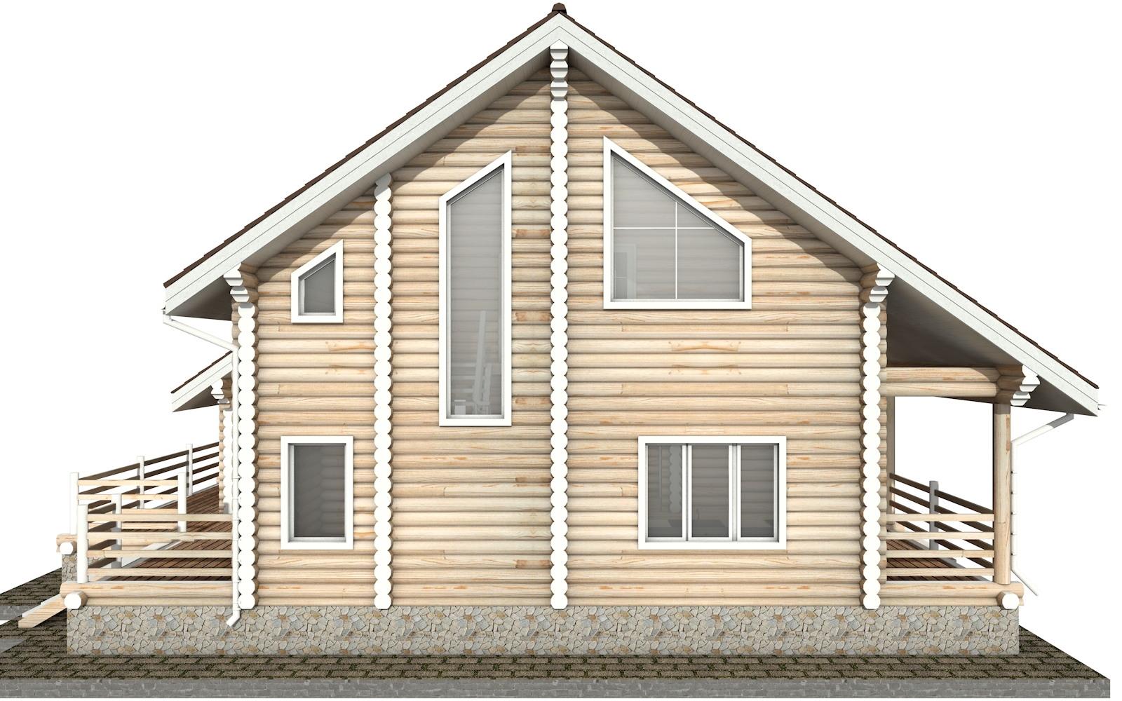 Фото #9: Красивый деревянный дом РС-35 из бревна