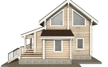 Фото #10: Красивый деревянный дом РС-36 из бревна