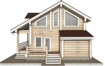 Фото #10: Красивый деревянный дом РС-37 из бревна