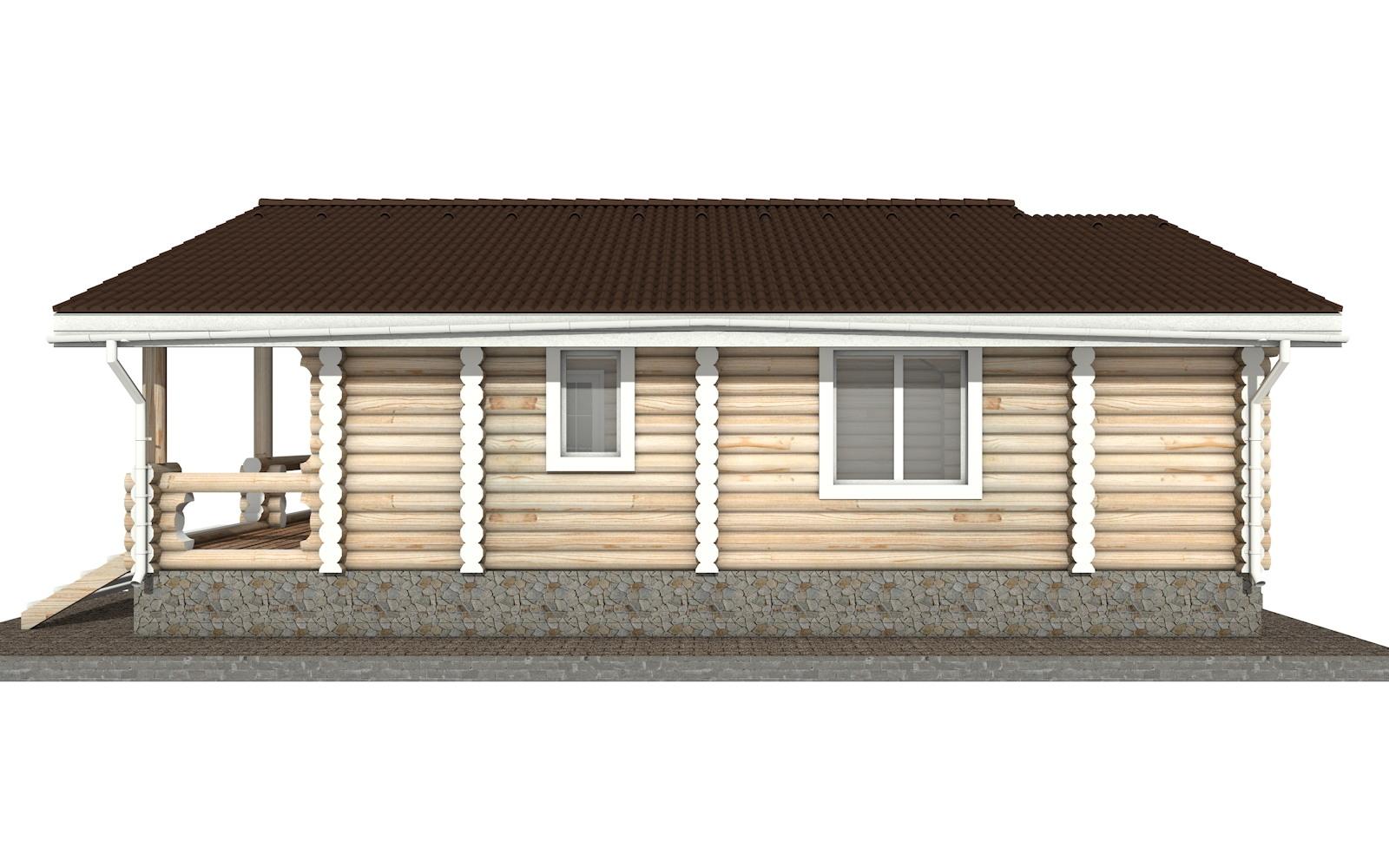 Фото #8: Красивый деревянный дом РС-38 из бревна