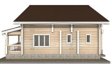 Фото #10: Красивый деревянный дом РС-39 из бревна