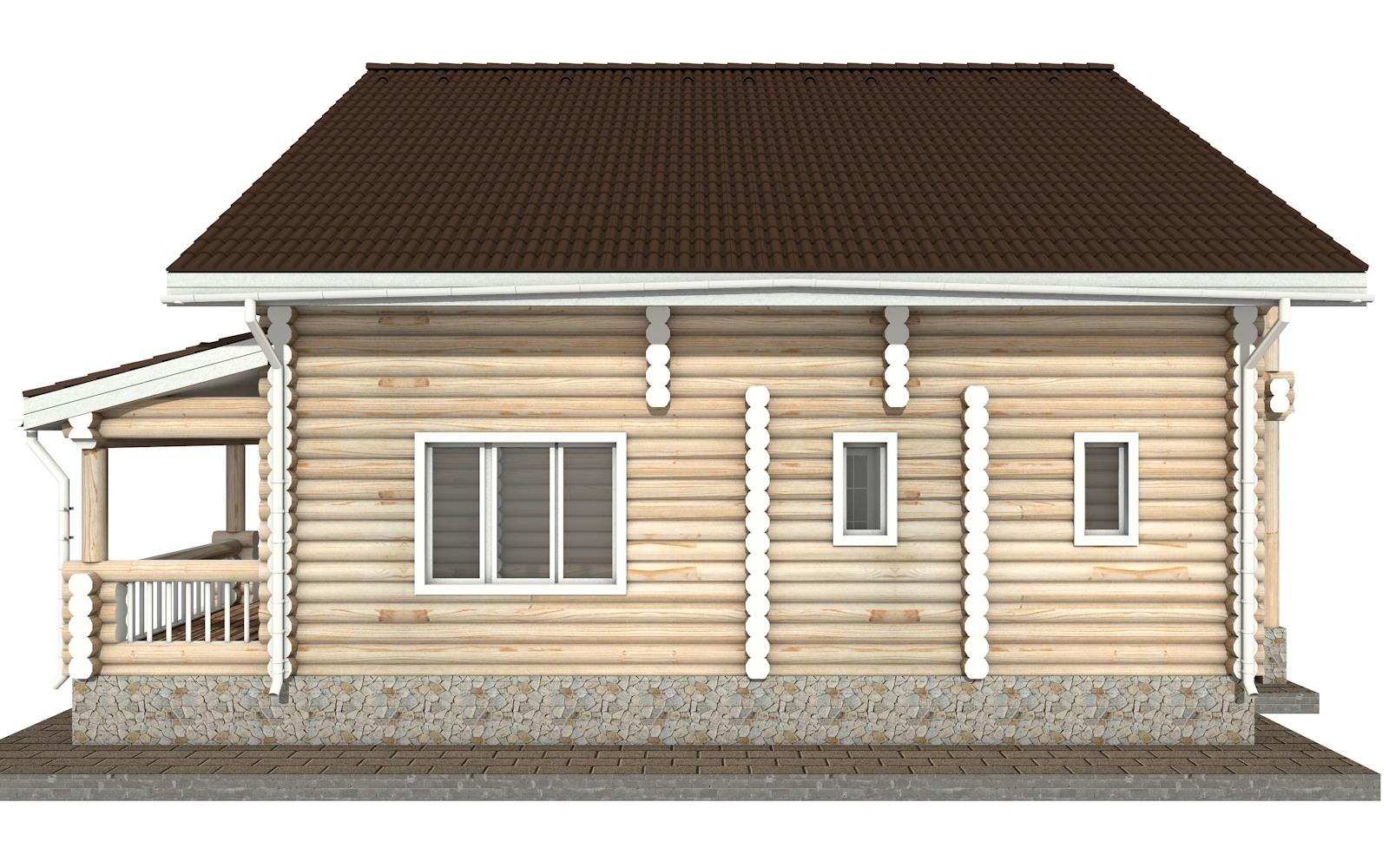 Фото #9: Красивый деревянный дом РС-39 из бревна