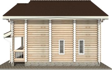Фото #10: Красивый деревянный дом РС-5 из бревна