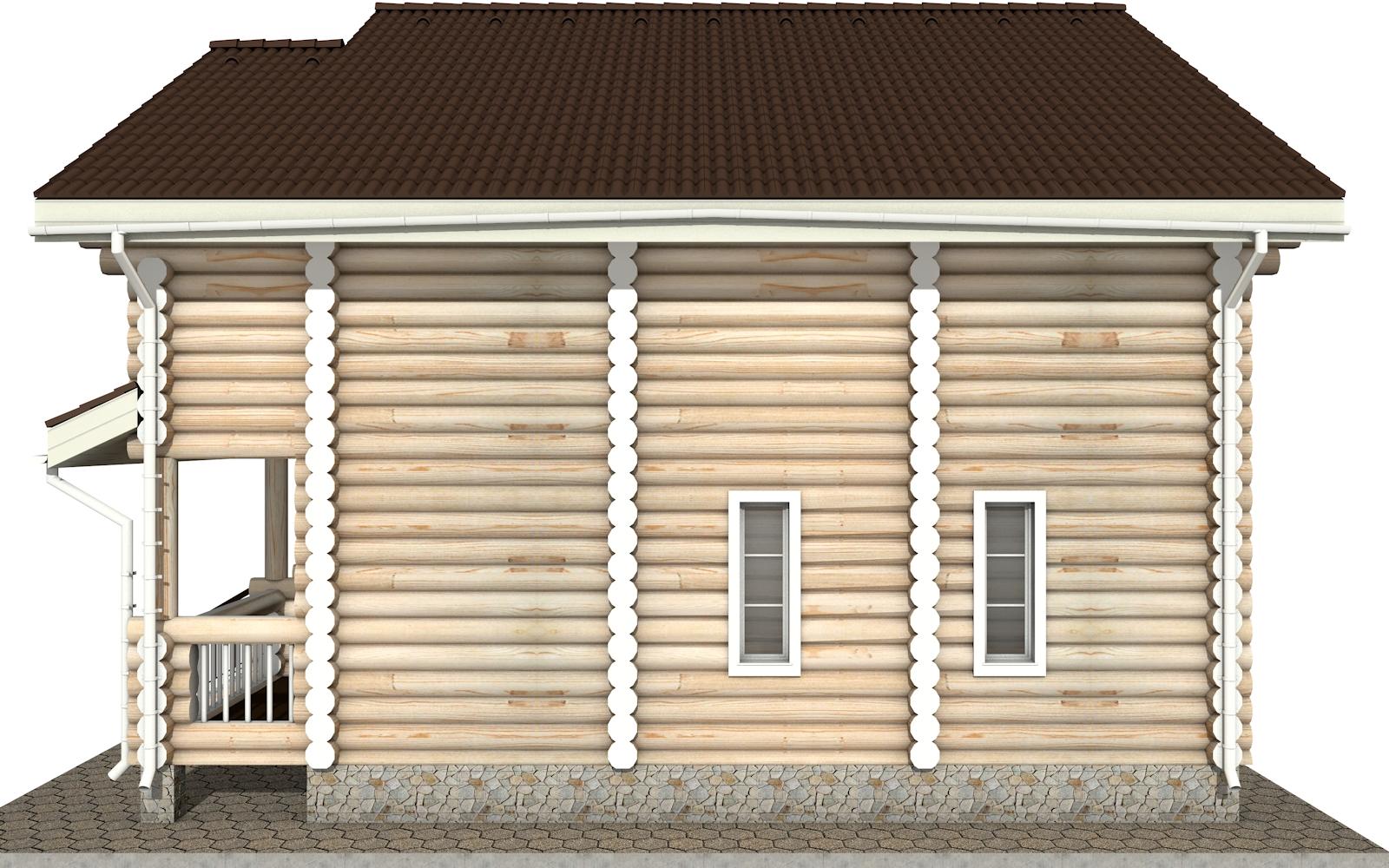 Фото #9: Красивый деревянный дом РС-5 из бревна