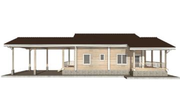 Фото #10: Красивый деревянный дом РС-40 из бревна