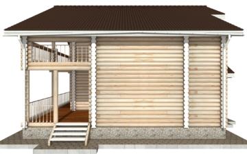 Фото #10: Красивый деревянный дом РС-42 из бревна
