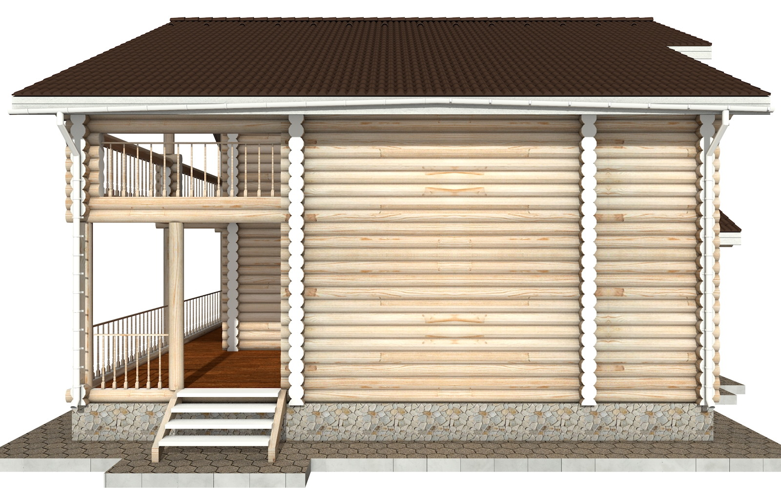 Фото #9: Красивый деревянный дом РС-42 из бревна