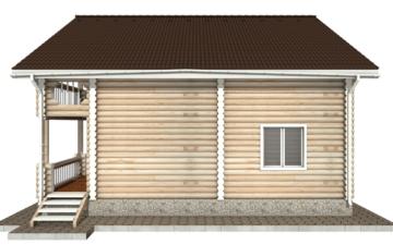 Фото #10: Красивый деревянный дом РС-43 из бревна