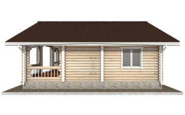 Фото #10: Красивый деревянный дом РС-44 из бревна