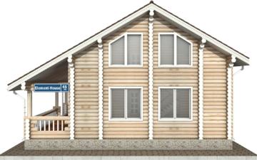 Фото #10: Красивый деревянный дом РС-45 из бревна